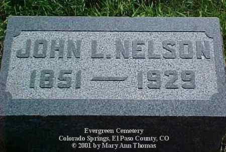 NELSON, JOHN L. - El Paso County, Colorado | JOHN L. NELSON - Colorado Gravestone Photos