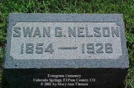 NELSON, SWAN G. - El Paso County, Colorado   SWAN G. NELSON - Colorado Gravestone Photos