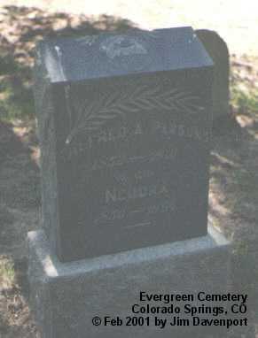 PARSONS, ALFRED A. - El Paso County, Colorado | ALFRED A. PARSONS - Colorado Gravestone Photos