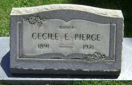 PIERCE, CECILE E - El Paso County, Colorado   CECILE E PIERCE - Colorado Gravestone Photos