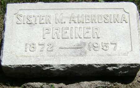 PREINER, SISTER M. AMBROSINA - El Paso County, Colorado | SISTER M. AMBROSINA PREINER - Colorado Gravestone Photos