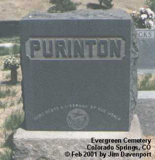 PURINTON, THOMAS A. - El Paso County, Colorado | THOMAS A. PURINTON - Colorado Gravestone Photos