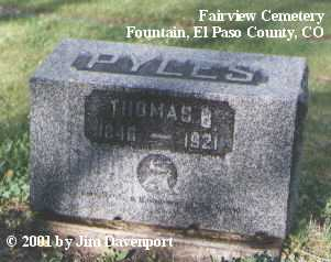 PYLES, THOMAS B. - El Paso County, Colorado | THOMAS B. PYLES - Colorado Gravestone Photos
