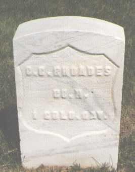 RHOADES, C. C. - El Paso County, Colorado | C. C. RHOADES - Colorado Gravestone Photos