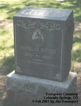 RITTER, NICHOLAS - El Paso County, Colorado | NICHOLAS RITTER - Colorado Gravestone Photos