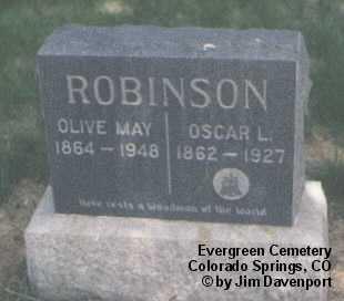 ROBINSON, OSCAR L. - El Paso County, Colorado   OSCAR L. ROBINSON - Colorado Gravestone Photos