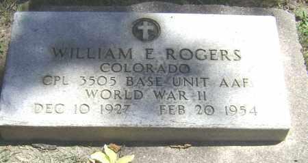 ROGERS, WILLIAM E - El Paso County, Colorado | WILLIAM E ROGERS - Colorado Gravestone Photos