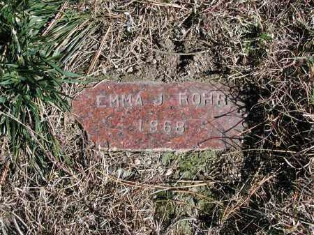 ROHR, EMMA J. - El Paso County, Colorado   EMMA J. ROHR - Colorado Gravestone Photos