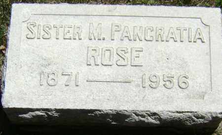 ROSE, SISTER M. PANCRATIA - El Paso County, Colorado | SISTER M. PANCRATIA ROSE - Colorado Gravestone Photos