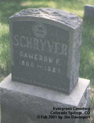 SCHRYVER, CAMERON F. - El Paso County, Colorado | CAMERON F. SCHRYVER - Colorado Gravestone Photos
