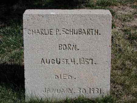 SCHUBARTH, CHARLIE P. - El Paso County, Colorado   CHARLIE P. SCHUBARTH - Colorado Gravestone Photos