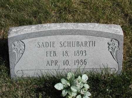 SCHUBARTH, SADIE - El Paso County, Colorado   SADIE SCHUBARTH - Colorado Gravestone Photos