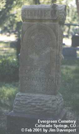 SCHWANBECK, CHARLES A. - El Paso County, Colorado   CHARLES A. SCHWANBECK - Colorado Gravestone Photos