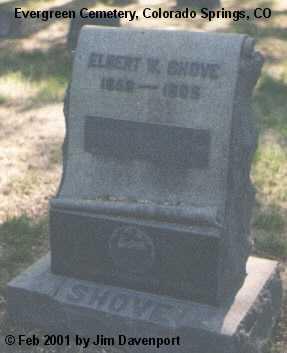 SHOVE, ELBERT W. - El Paso County, Colorado | ELBERT W. SHOVE - Colorado Gravestone Photos