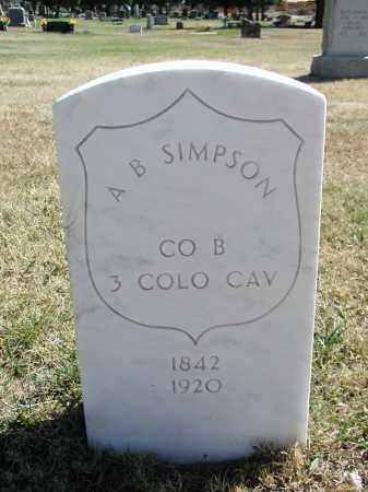 SIMPSON, A. B. - El Paso County, Colorado   A. B. SIMPSON - Colorado Gravestone Photos