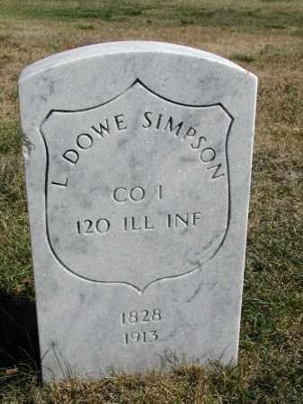 SIMPSON, L. DOWE - El Paso County, Colorado   L. DOWE SIMPSON - Colorado Gravestone Photos