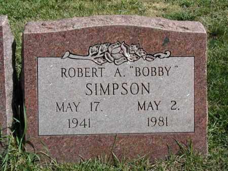 SIMPSON, ROBERT A. - El Paso County, Colorado | ROBERT A. SIMPSON - Colorado Gravestone Photos