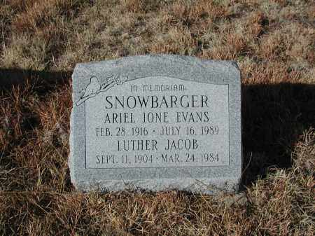 EVANS SNOWBARGER, ARIEL I. - El Paso County, Colorado | ARIEL I. EVANS SNOWBARGER - Colorado Gravestone Photos