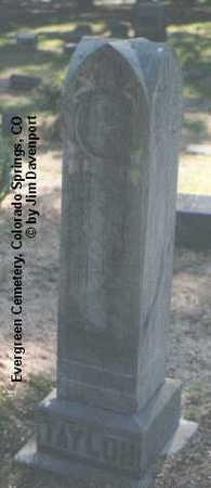 TAYLOR, ALBERT O. - El Paso County, Colorado | ALBERT O. TAYLOR - Colorado Gravestone Photos