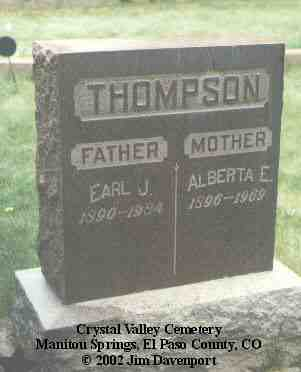 THOMPSON, EARL J. - El Paso County, Colorado | EARL J. THOMPSON - Colorado Gravestone Photos