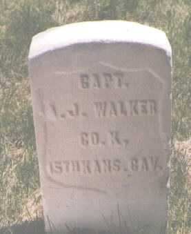 WALKER, A. J. - El Paso County, Colorado | A. J. WALKER - Colorado Gravestone Photos