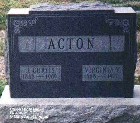 ACTON, VIRGINIA V. - Fremont County, Colorado | VIRGINIA V. ACTON - Colorado Gravestone Photos
