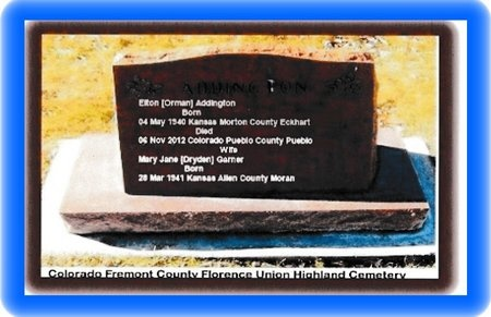ADDINGTON, ELTON - Fremont County, Colorado | ELTON ADDINGTON - Colorado Gravestone Photos