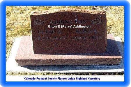 ADDINGTON, ELTON ELSWORTH - Fremont County, Colorado | ELTON ELSWORTH ADDINGTON - Colorado Gravestone Photos