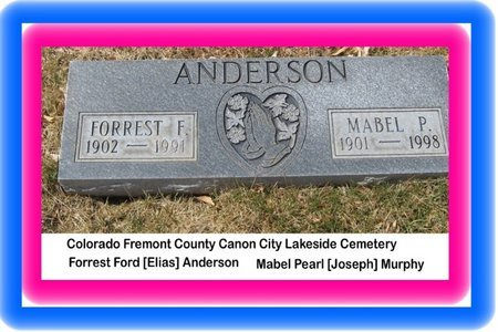 ANDERSON, FORREST FORD - Fremont County, Colorado | FORREST FORD ANDERSON - Colorado Gravestone Photos