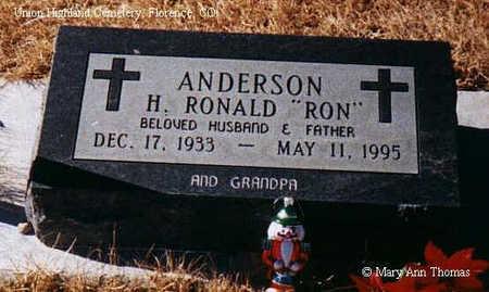 ANDERSON, H. RONALD - Fremont County, Colorado | H. RONALD ANDERSON - Colorado Gravestone Photos