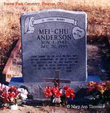 ANDERSON, MEI-CHU - Fremont County, Colorado | MEI-CHU ANDERSON - Colorado Gravestone Photos