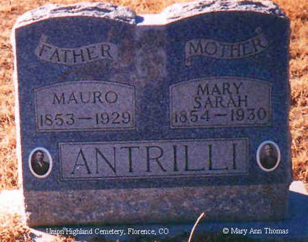 ANTRILLI, MARY SARAH - Fremont County, Colorado | MARY SARAH ANTRILLI - Colorado Gravestone Photos