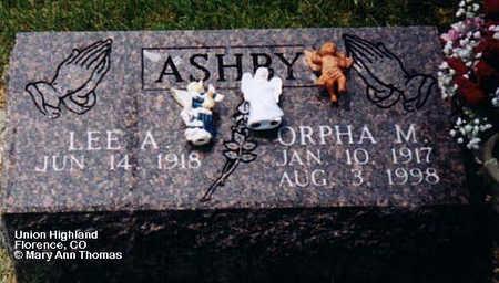 ASHBY, ORPHA M. - Fremont County, Colorado | ORPHA M. ASHBY - Colorado Gravestone Photos