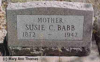 BABB, SUSIE B. - Fremont County, Colorado | SUSIE B. BABB - Colorado Gravestone Photos