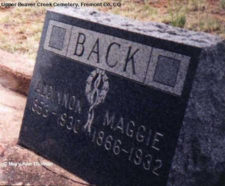 BACK, ALGINNON - Fremont County, Colorado   ALGINNON BACK - Colorado Gravestone Photos