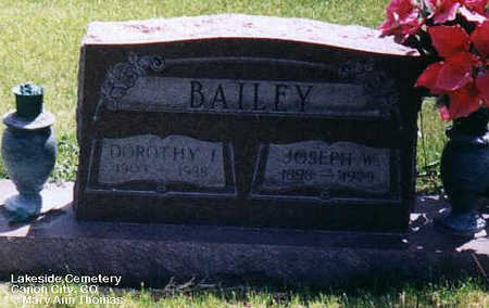 BAILEY, DOROTHY I. - Fremont County, Colorado | DOROTHY I. BAILEY - Colorado Gravestone Photos