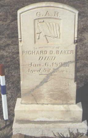 BAKER, RICHARD D. - Fremont County, Colorado   RICHARD D. BAKER - Colorado Gravestone Photos