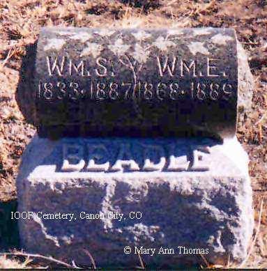 BEADLE, WM. E. - Fremont County, Colorado   WM. E. BEADLE - Colorado Gravestone Photos
