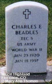 BEADLES, CHARLES E. - Fremont County, Colorado | CHARLES E. BEADLES - Colorado Gravestone Photos
