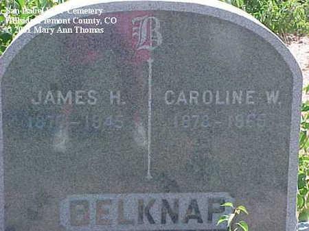 BELKNAP, JAMES H. - Fremont County, Colorado | JAMES H. BELKNAP - Colorado Gravestone Photos