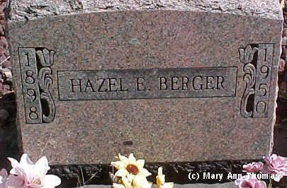BERGER, HAZEL E. - Fremont County, Colorado | HAZEL E. BERGER - Colorado Gravestone Photos