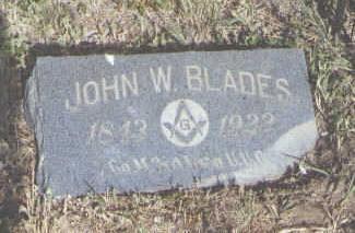 BLADES, JOHN W. - Fremont County, Colorado | JOHN W. BLADES - Colorado Gravestone Photos
