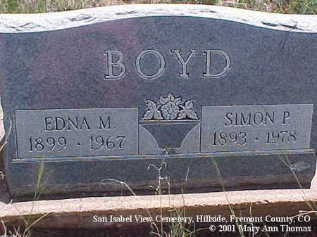 BOYD, EDNA M. - Fremont County, Colorado | EDNA M. BOYD - Colorado Gravestone Photos