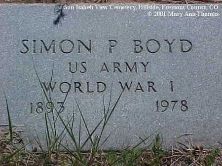 BOYD, SIMON P. - Fremont County, Colorado | SIMON P. BOYD - Colorado Gravestone Photos