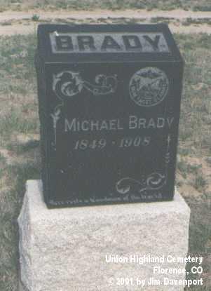 BRADY, MICHAEL - Fremont County, Colorado | MICHAEL BRADY - Colorado Gravestone Photos