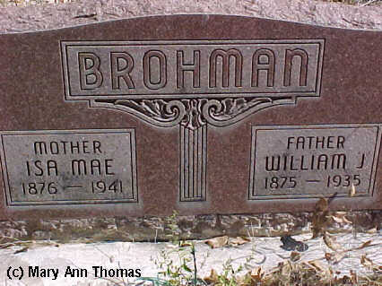 BROHMAN, WILLIAM J. - Fremont County, Colorado | WILLIAM J. BROHMAN - Colorado Gravestone Photos