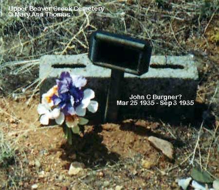 BURGNER?, JOHN C. - Fremont County, Colorado   JOHN C. BURGNER? - Colorado Gravestone Photos