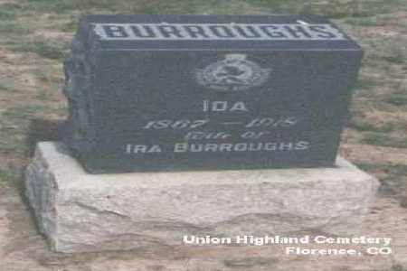 BURROUGHS, IRA - Fremont County, Colorado | IRA BURROUGHS - Colorado Gravestone Photos
