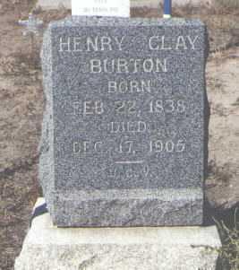 BURTON, HENRY CLAY - Fremont County, Colorado | HENRY CLAY BURTON - Colorado Gravestone Photos