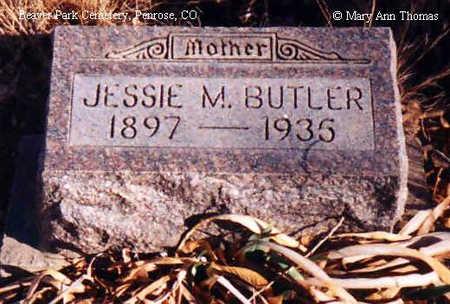 BUTLER, JESSIE M. - Fremont County, Colorado | JESSIE M. BUTLER - Colorado Gravestone Photos
